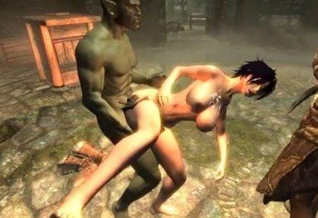 Секс монстры - видео из компьютерной порно игры с 3d графикой