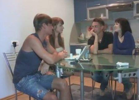 Две молодые русские пары свингеров попробовали обмен партнерами