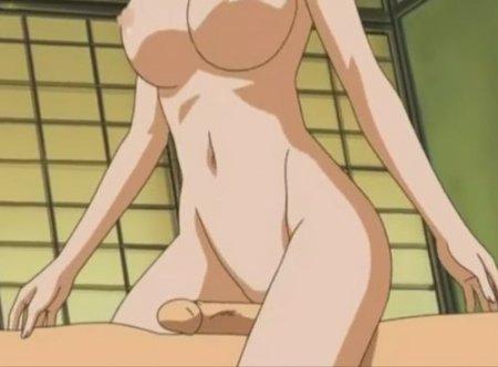 Парень-девственник пробует свой первый групповой аниме секс с девушками
